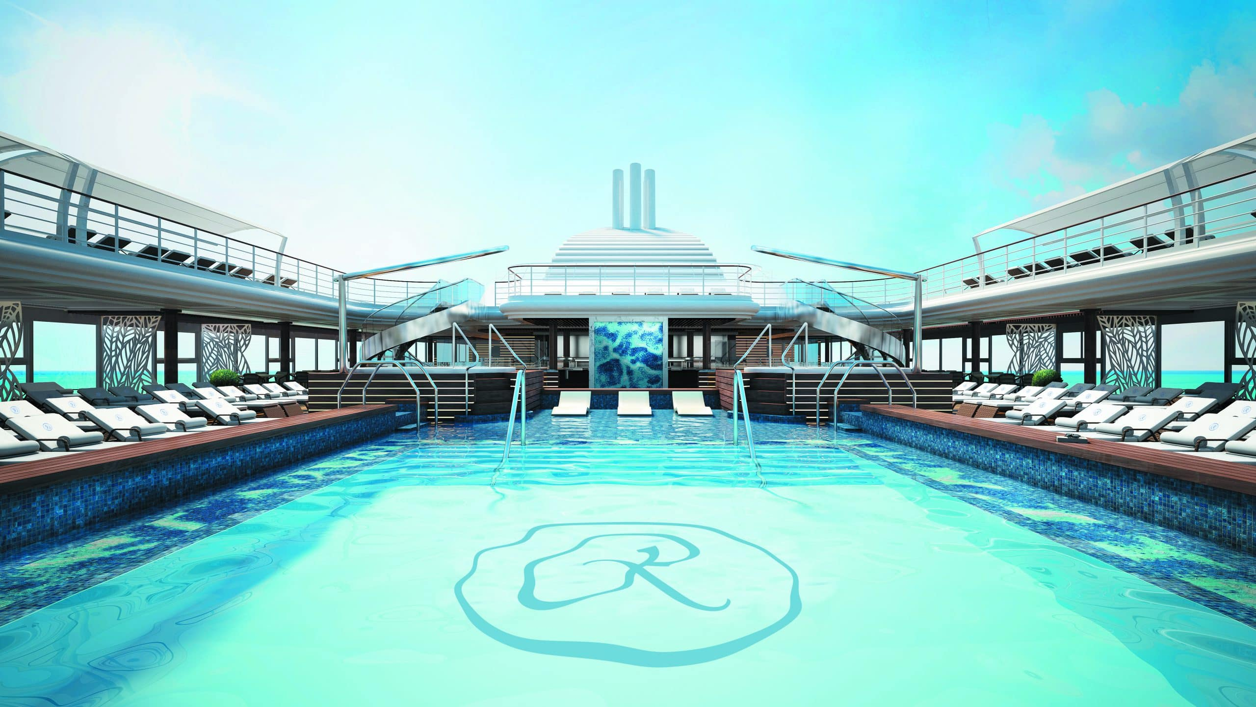 Regent Seven Seas Splendor Pool Deck Main Pool