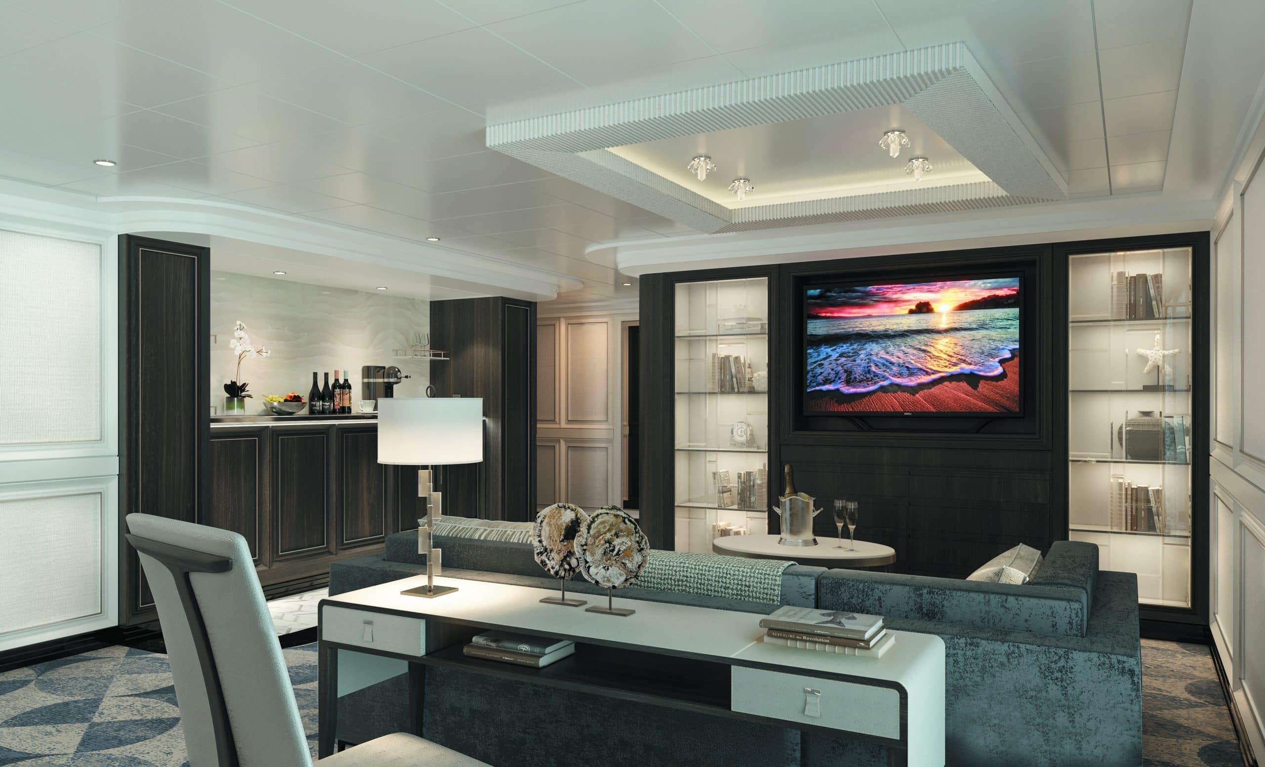 Regent Seven Seas Splendor Master Suite Livingroom
