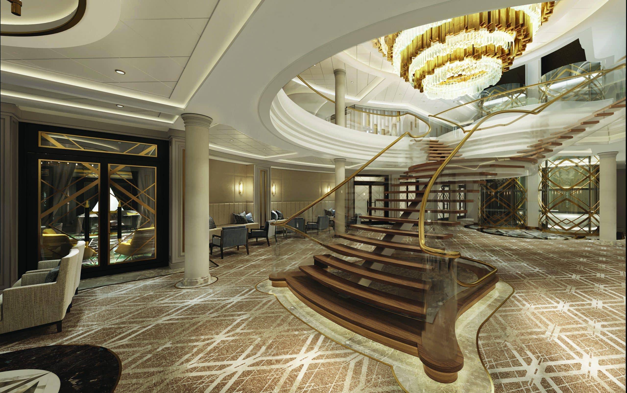 Regent Seven Seas Splendor Atrium_Stairs