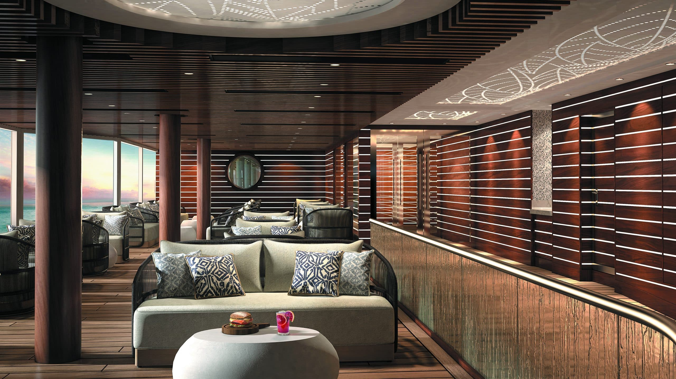 Regent Seven Seas Splendor Pool Deck - Grill Lounge