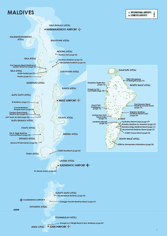 Maldives Map