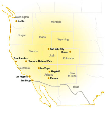 USA Holidays. Western USA Destinations