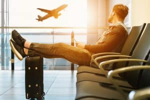 airport waiting flight departure