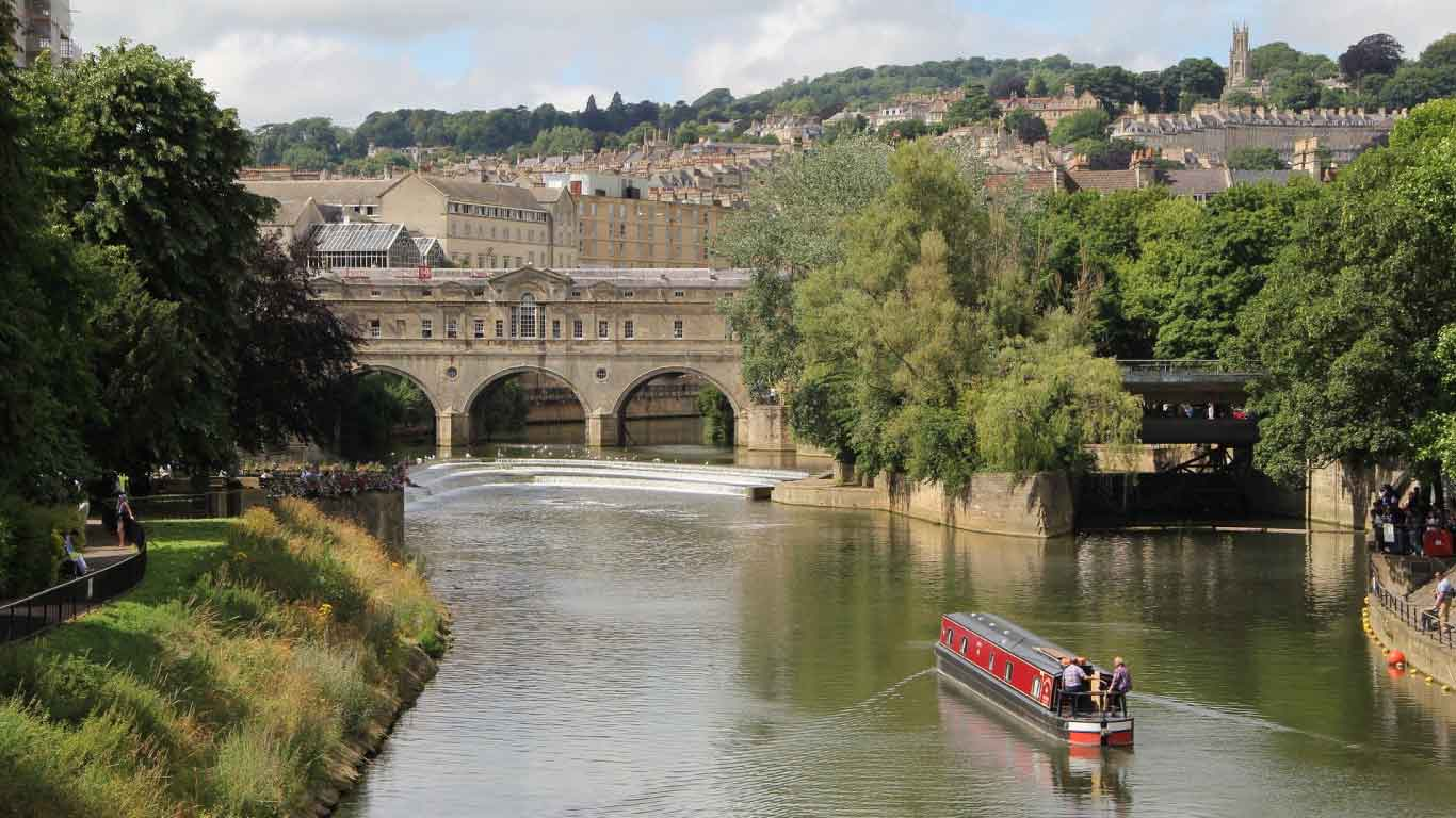 The city of Bath in England is a UNESCO World Heritage site, famed for its splendid Roman spa and elegant Georgian architecture.