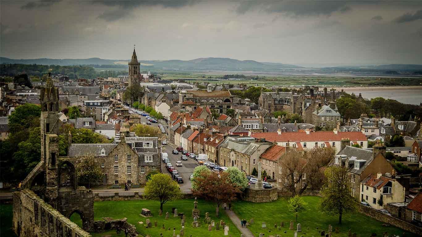 St Andrews, Scotland. Panoramic View