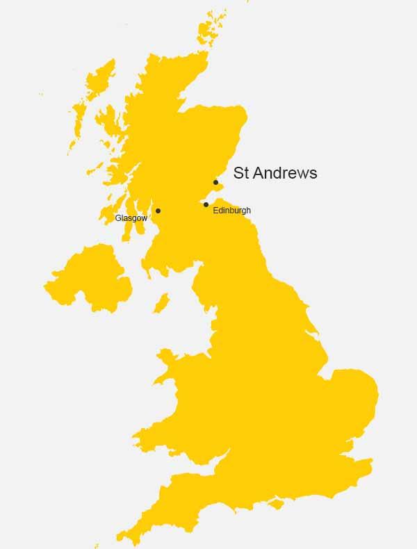 UK Map, Saint Andrews, Scotland