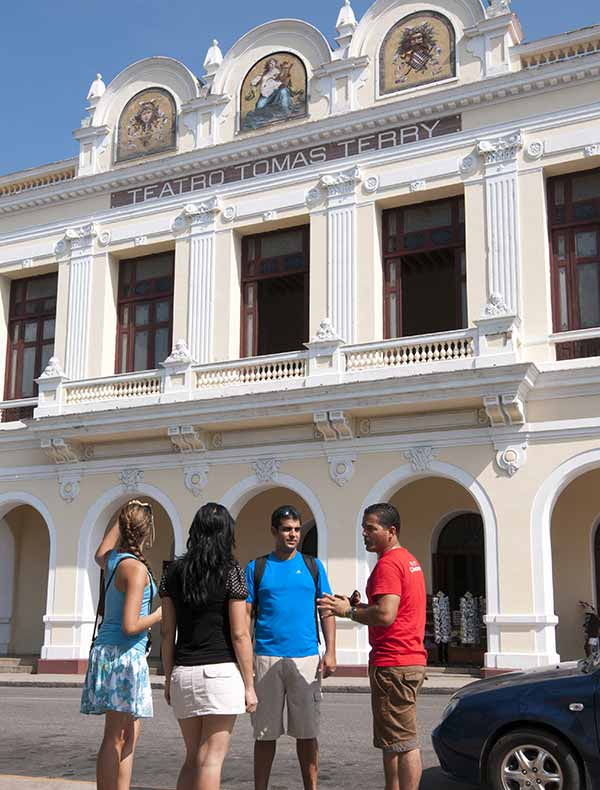 Teatro Terry (Terry Theatre) is perhaps the best example of French-influenced architecture in Cienfuegos, Cuba.