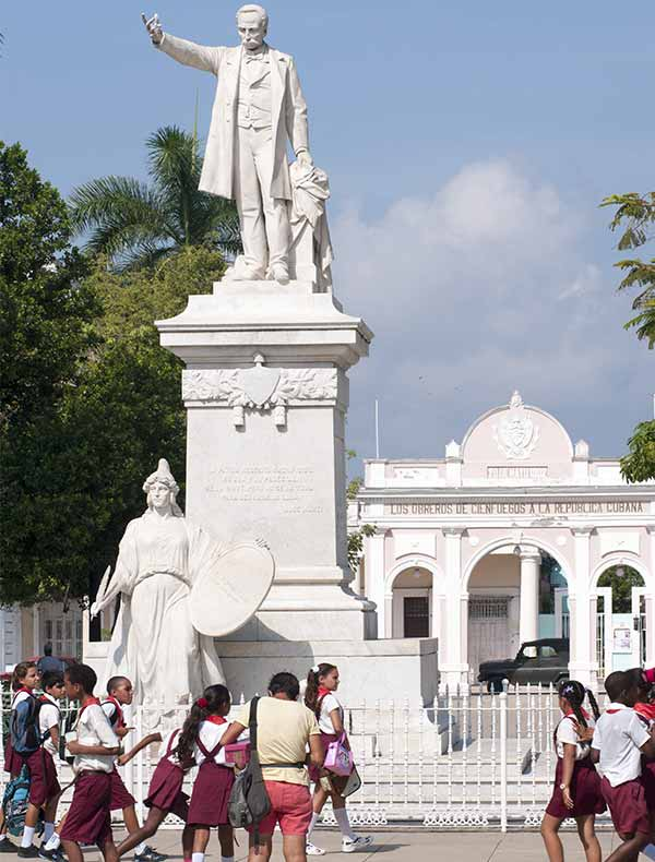 Cienfuegos, Cuba was founded in the 18th century by French colonialists.