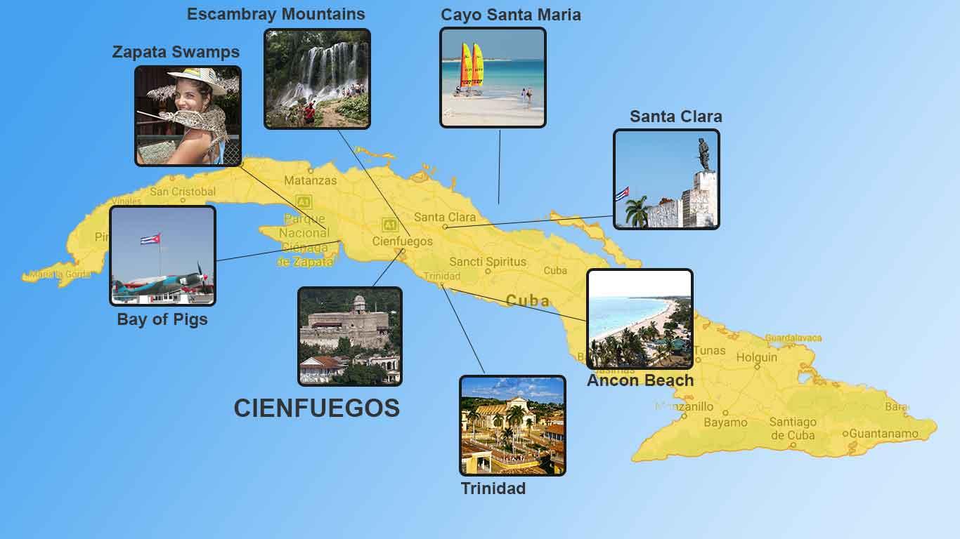 Tourist Attractions near Cienfuegos, Cuba