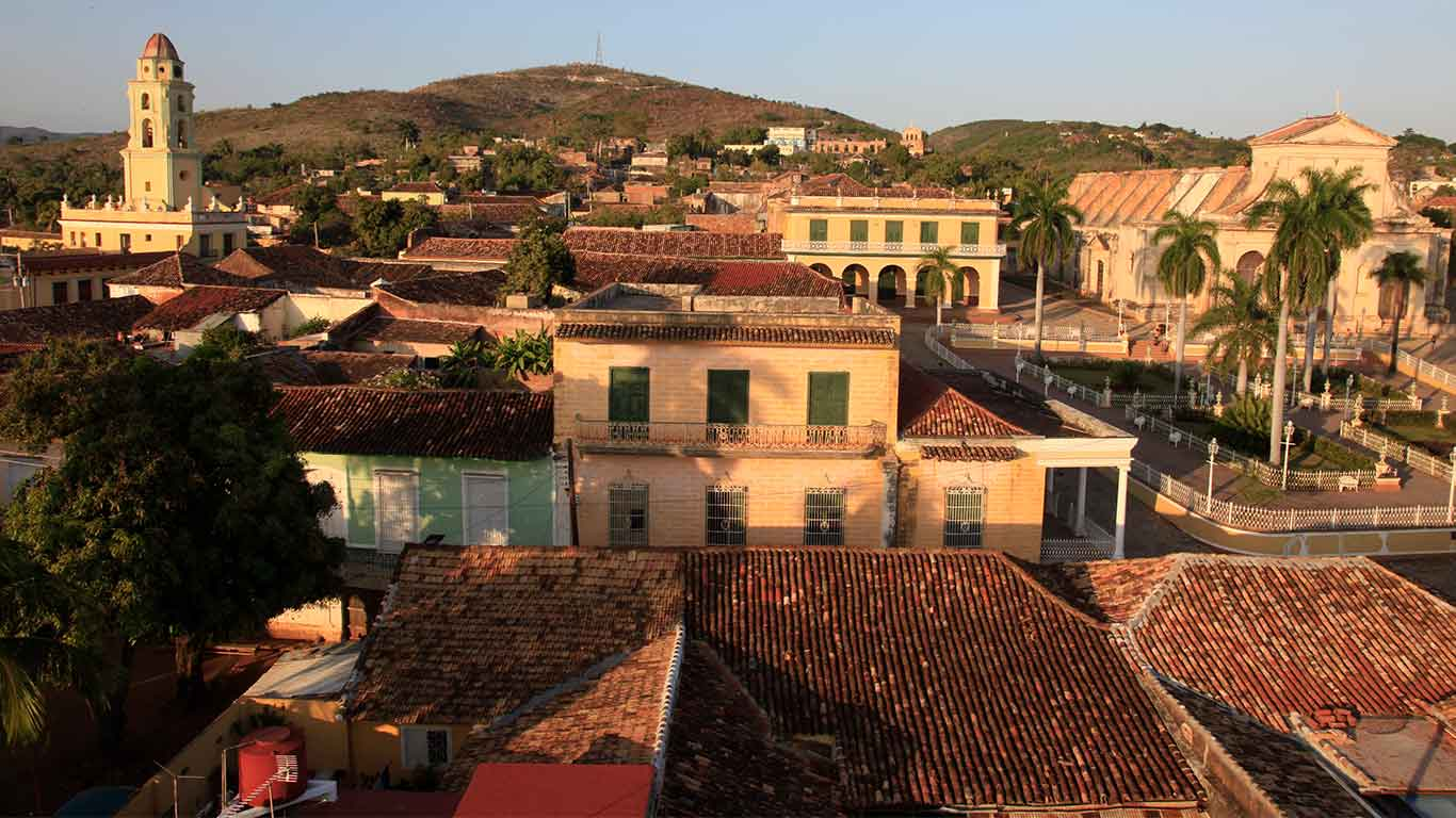 The colonial village of Trinidad is perhaps Cuba's best-preserved colonial town and referred to by locals as Cuba's living museum-city