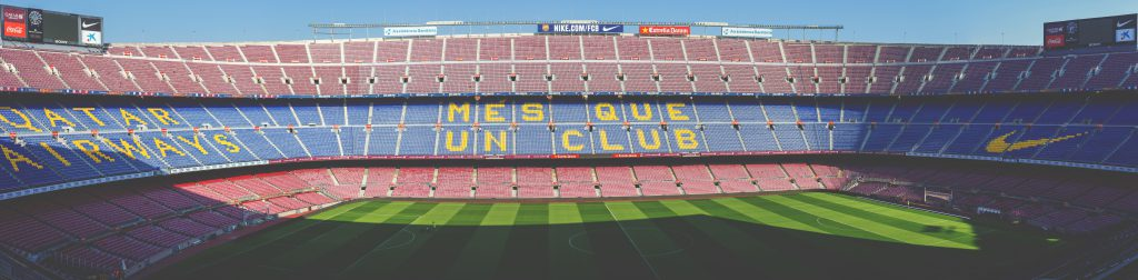 Mes Que UN Club Camp Nou stadium at daytime