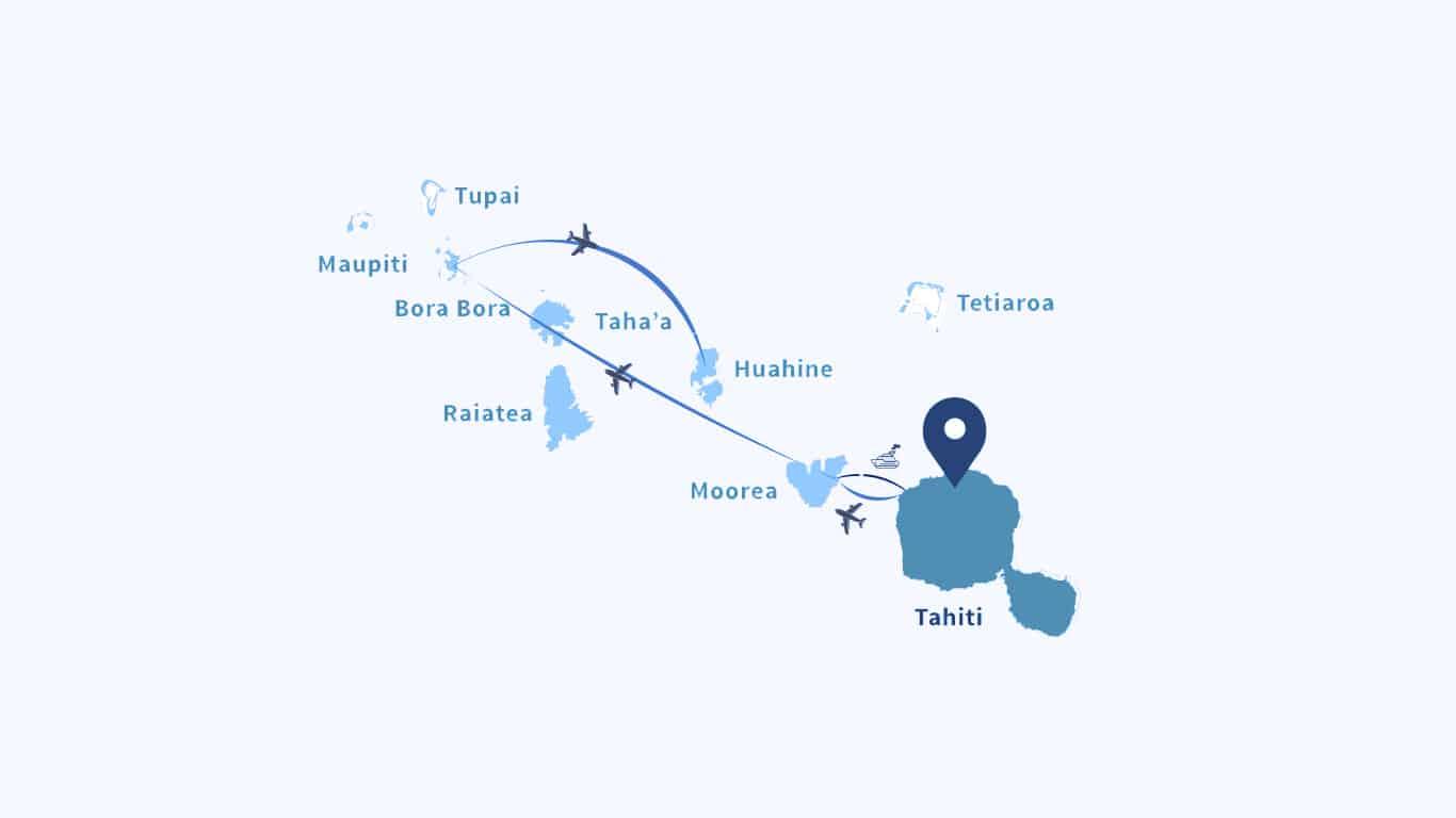 French Polynesia Island Hopping. One-Week Itinerary: Tahiti, Moorea, Bora Bora, Huahine