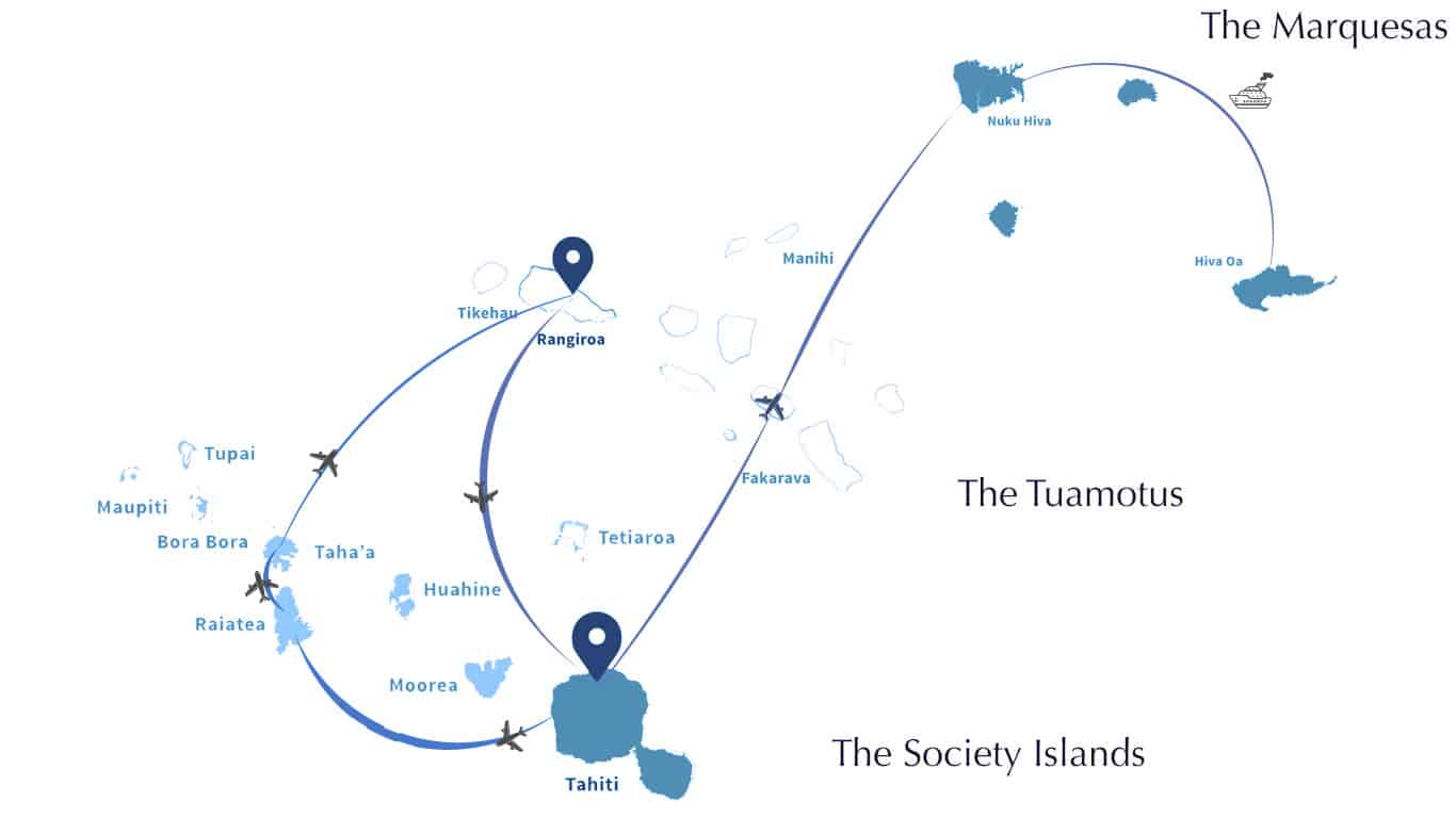 French Polynesia Island Hopping Itinerary for 2 or more weeks