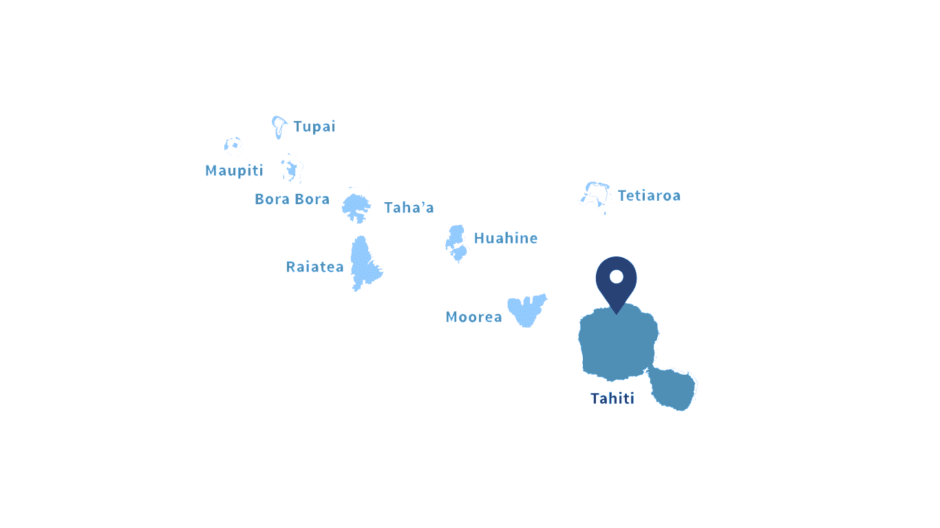 French Polynesia Map. Society Islands