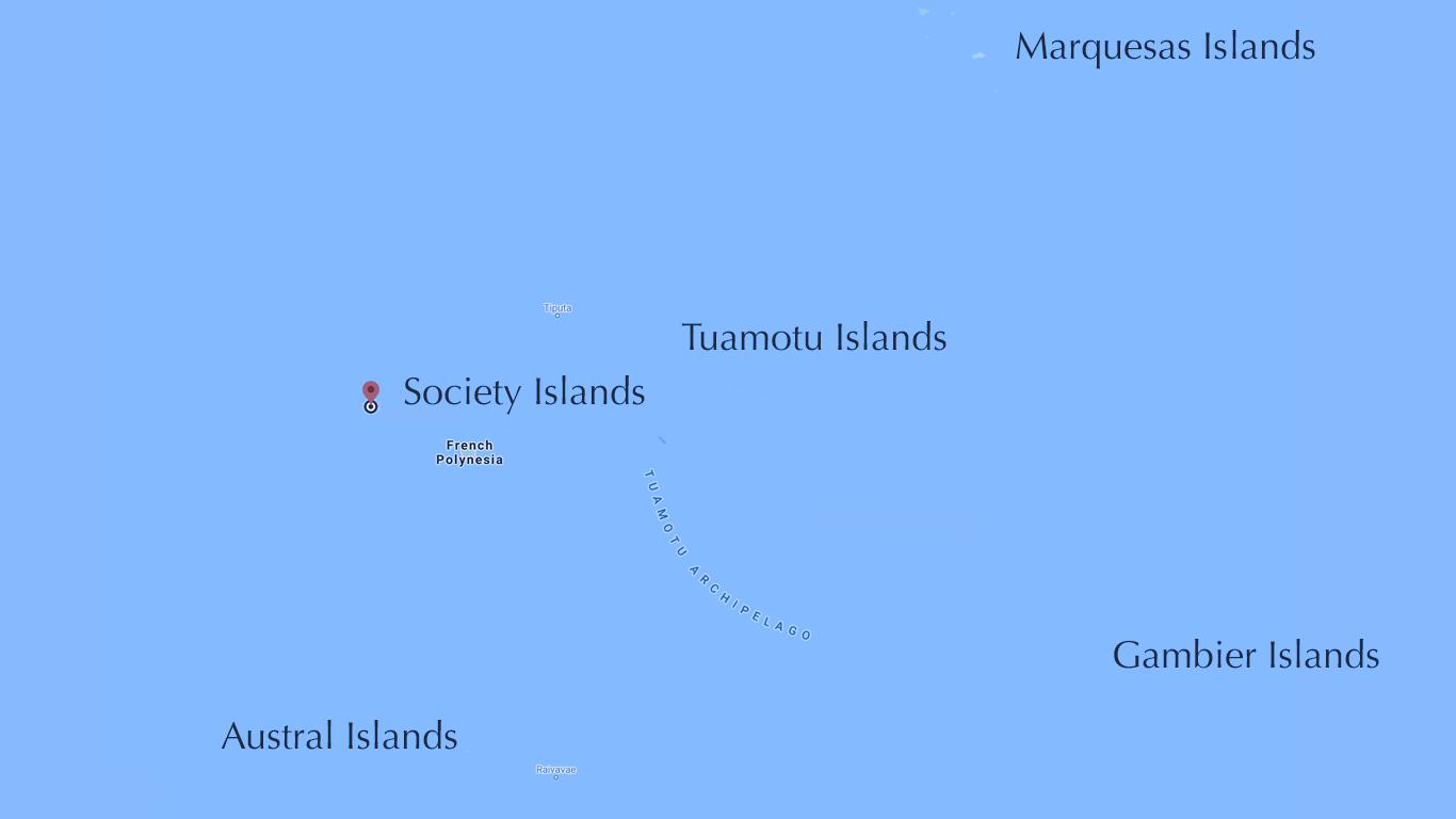 French Polynesia Map.