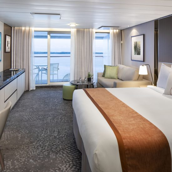 Celebrity Cruise Ship Tour Silhouette Sky Suite Bedroom